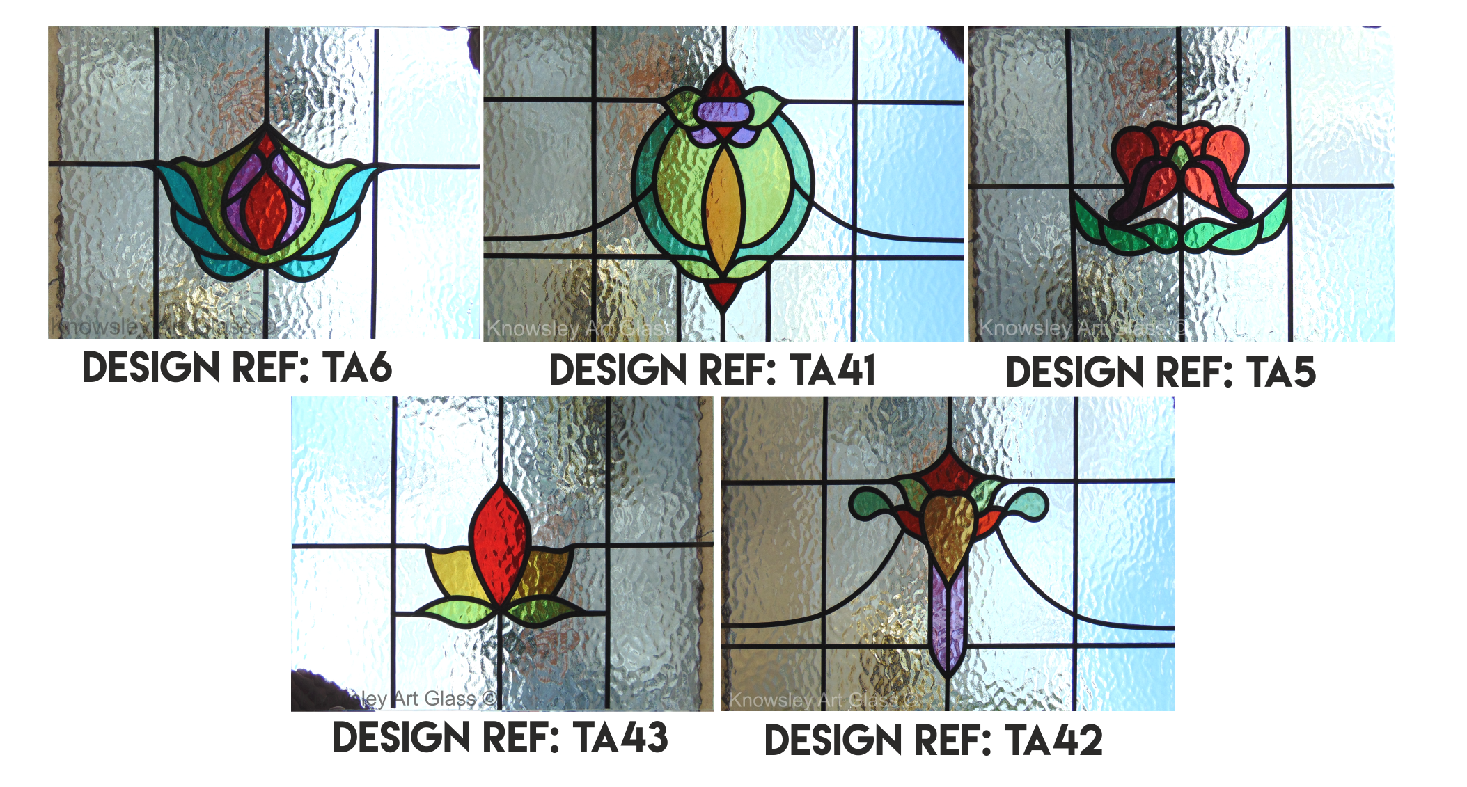 Fired enamel glass for 1930s stained glass window designs
