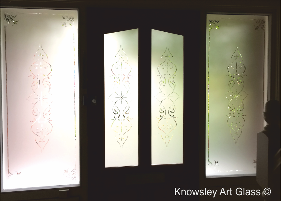 acid etched glass panels