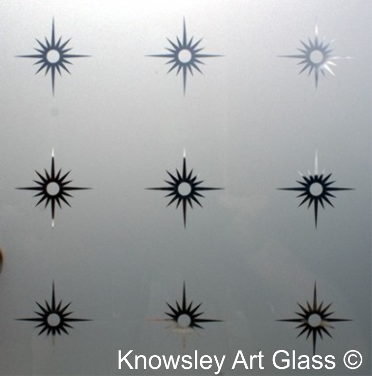 Modern Etched Glass Panel
