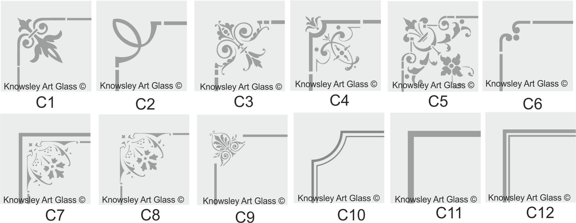 etched glass borders